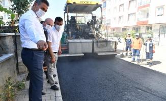 Başkan Köse, asfalt çalışmalarını denetledi
