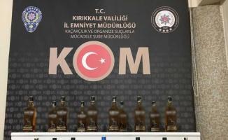 Kırıkkale'de gümrük kaçağı alkol ve sigara ele geçirildi