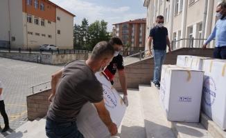 Okul çantaları Akyurt Belediyesinden