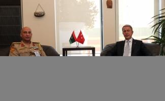 Akar, Libya Genelkurmay Başkanı Haddad'ı kabul etti