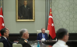 Cumhurbaşkanı Erdoğan başkanlığındaki Yüksek Askeri Şura toplantısı başladı