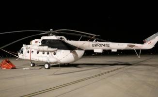 Isparta'daki orman yangınına gece görüşlü helikopterlerle müdahale ediliyor