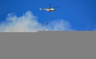 Manavgat, Alanya, Akseki ve Gündoğmuş'taki orman yangınlarına havadan ve karadan müdahale ediliyor