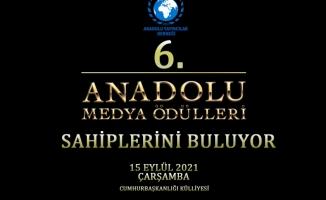 Anadolu Medya Ödülleri 6'ncı kez sahiplerini buluyor.