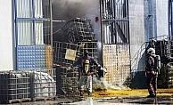 Başkentte fabrika yangını