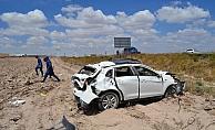 Aksaray'da otomobil devrildi: 5 yaralı