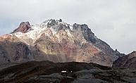 Erciyes'e eylülde kar yağdı