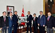 Basın temsilcileri Vali Toprak'ı ziyaret etti