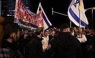 Tel Aviv'de Netanyahu karşıtı protesto