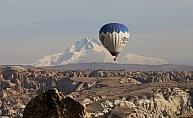 Kapadokya'dan Erciyes'e kuş bakışı