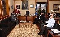 AÜ Rektörü Şafak Ertan Çomaklı'ya ziyaretler