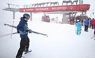 Erciyes'te kar kalınlığı 2 metreye yaklaştı
