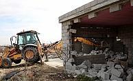 Kapadokya bölgesindeki yapıların yıkılması