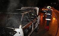 Beypazarı'nda otomobil yangını