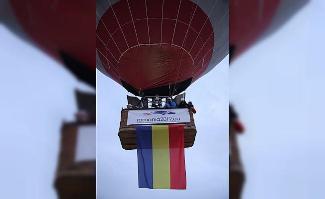 Romanya Büyükelçiliği Kapadokya'da sıcak hava balonu uçurdu