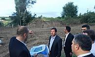 Belediye Başkanı Demirbaş, köprü çalışmalarını inceledi