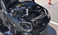 Karaman'da araç yangınları