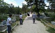 Sorgun'da mezarlık ziyareti