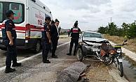 Çankırı'da otomobilin çarptığı motosikletli çift öldü