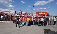 Kırşehir'de fabrika işçilerinden eylem