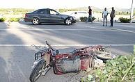 Konya'da otomobilin çarptığı elektrikli bisikletin sürücüsü öldü