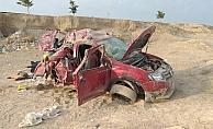 Aksaray'da otomobil devrildi: 3 ölü, 4 yaralı