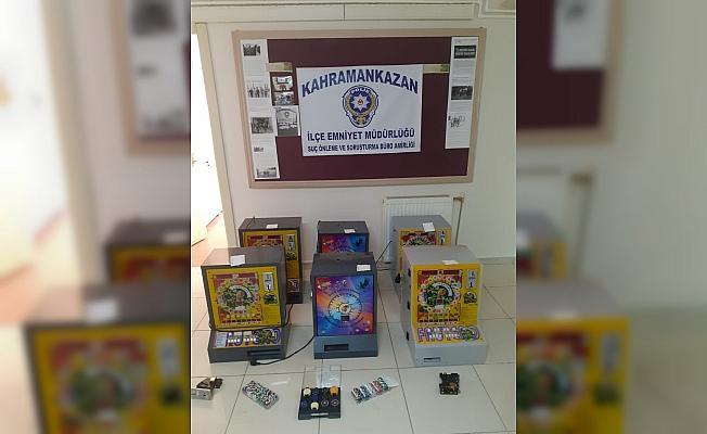 Kahramankazan'da kumar operasyonu: 6 gözaltı