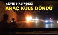 Ankara#039;da seyir halindeki otomobil alev alev yandı
