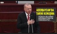 Cumhurbaşkanı Erdoğan Azerbaycan Meclisi'nde konuştu