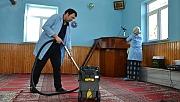 Kahramankazan'da camilerde bayram temizliği yapıldı