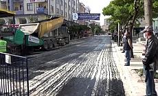 Kahramankazan'da sıcak asfalt çalışması yapıldı