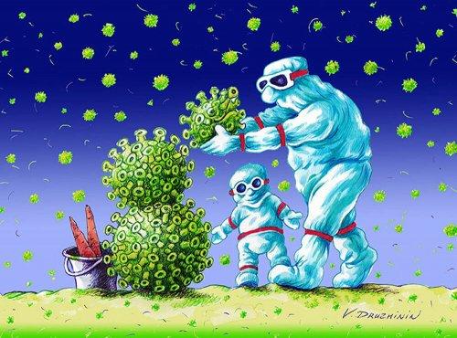 İran'lı karikatüristler sanatçıları koronavirüsle mücadele için birleştirdi.