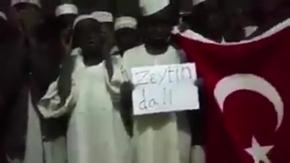 """Afrikalı çocukların """"Zeytin dalı"""" için duası"""